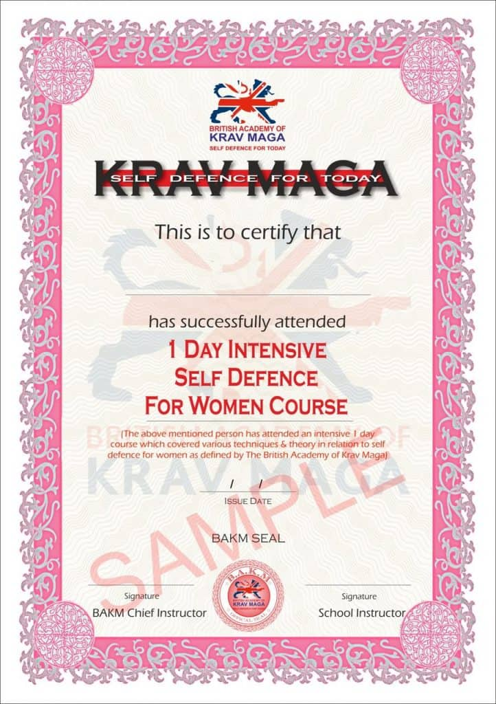 self-defence-for-women-certificate