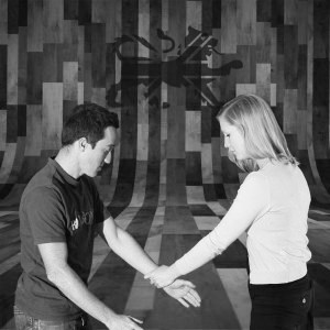 Man and Woman training in Krav Maga