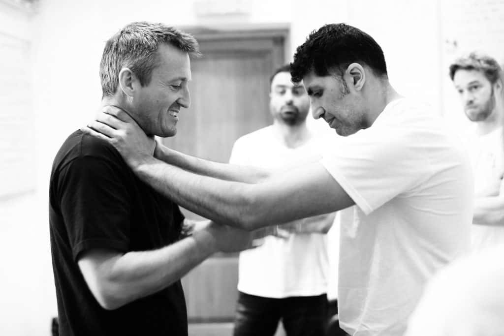 men learning self defence
